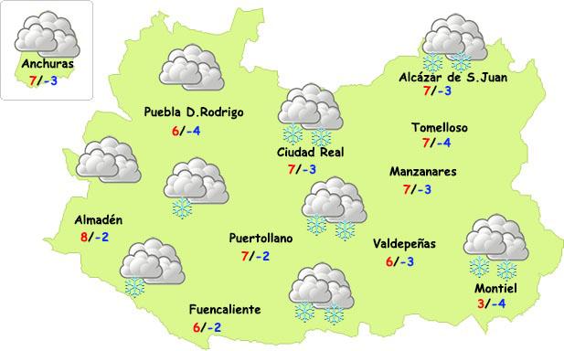 Posible visita de la nieve a la provincia de Ciudad Real