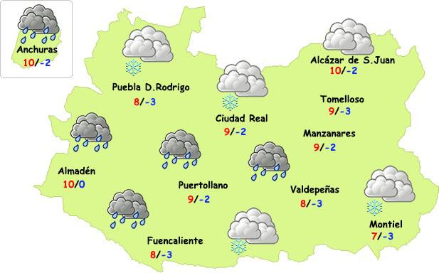 Este viernes sigue el invierno en Ciudad Real