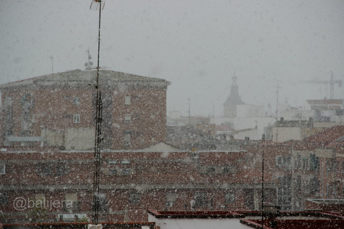 La nieve aparece casi a finales de marzo en Ciudad Real