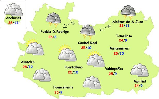 Miércoles ligeramente inestable en Ciudad Real