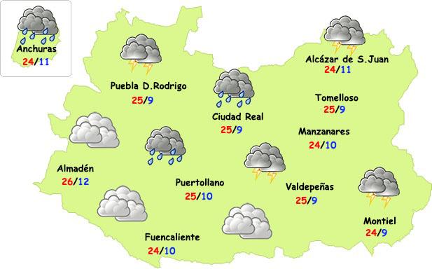 El tiempo en Ciudad Real: comienzo de semana inestable