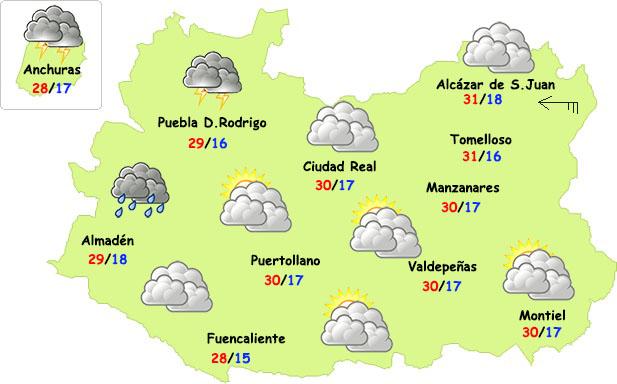 El tiempo en Ciudad Real: algunas tormentas y menos calor