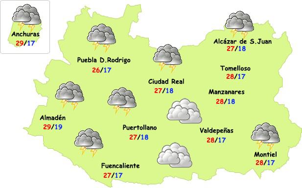 Episodio de fuertes tormentas en Ciudad Real