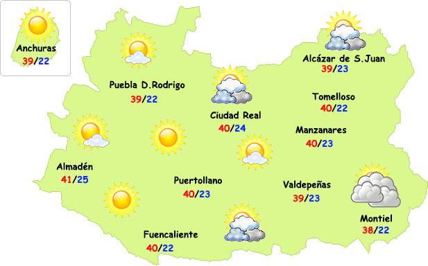 El tiempo en Ciudad Real: finde aún muy caluroso
