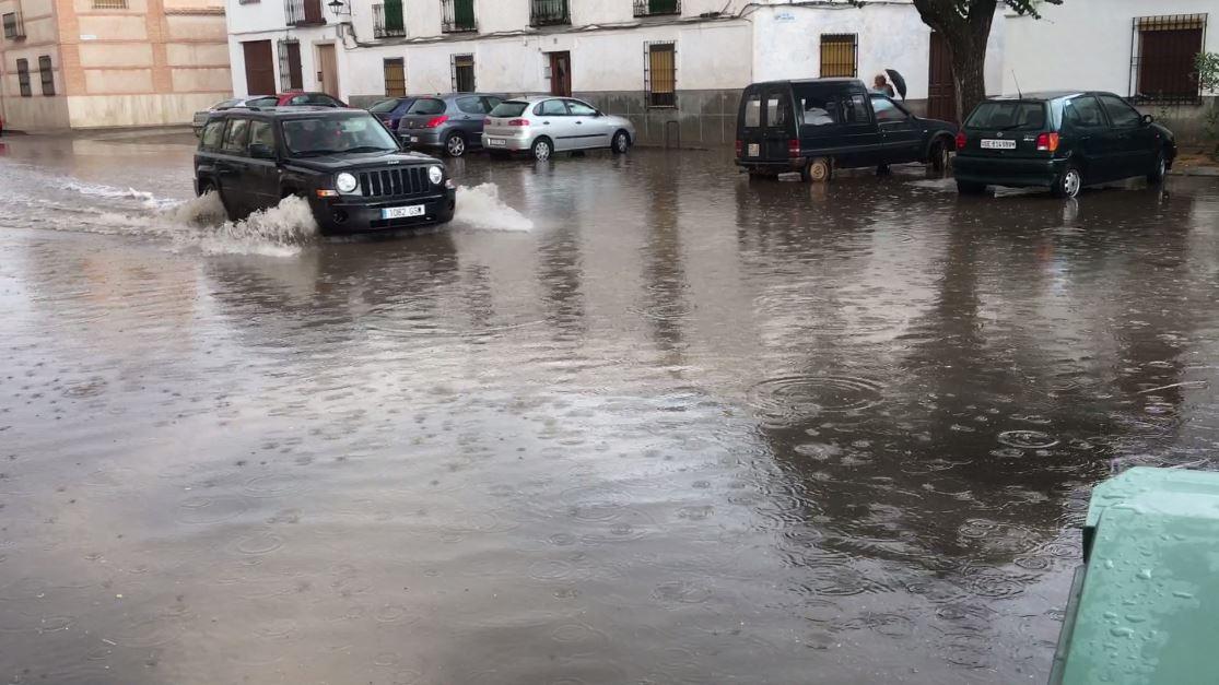 Almagro y Bolaños sufren una fuerte tormenta de verano