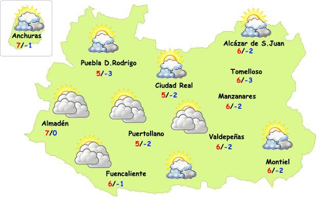 La semana comenzará invernal en Ciudad Real
