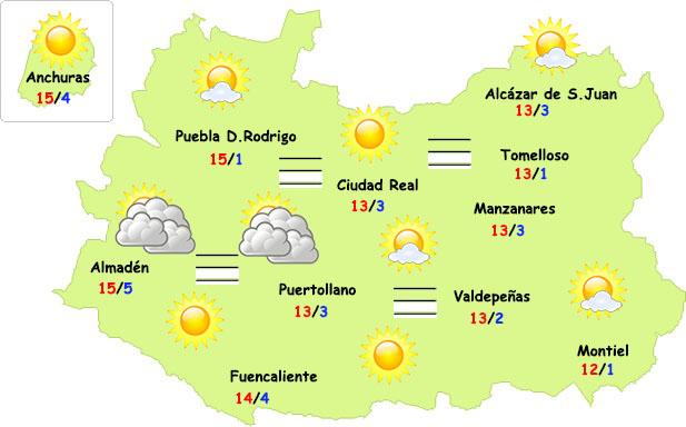 El tiempo en Ciudad Real: temperaturas