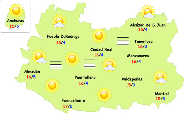 El tiempo en Ciudad Real: nieblas y altas temperaturas