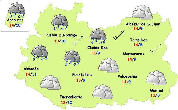 La lluvia volverá esta semana a Ciudad Real
