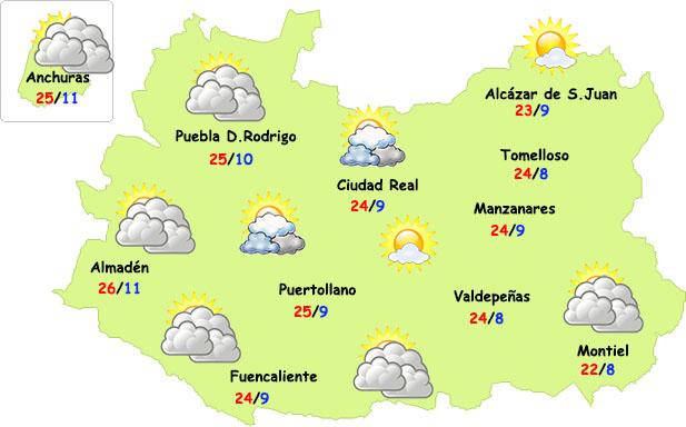Leves cambios en el tiempo este viernes en Ciudad Real
