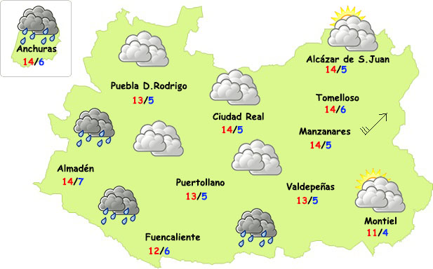 Final de semana con frío en Ciudad Real