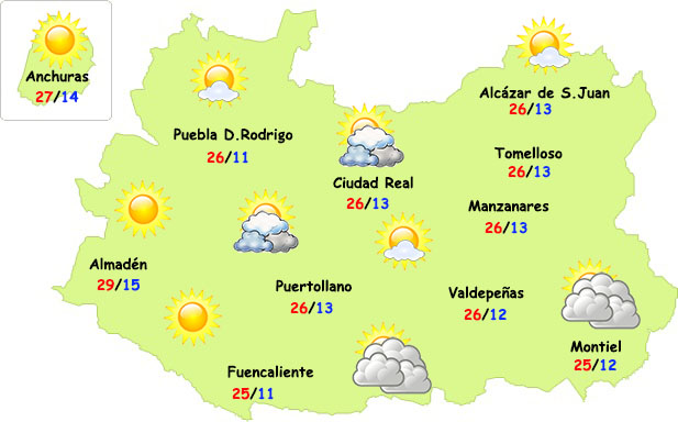El verano empezará a asomar en Ciudad Real