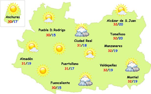 El tiempo en Ciudad Real: calor soportable