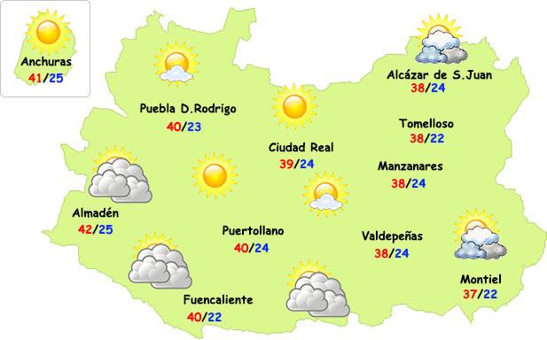Así evolucionará el calor en Ciudad Real