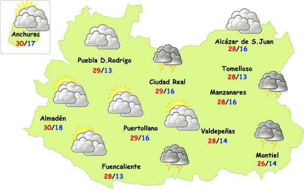 La semana empieza con menos tormentas en Ciudad Real