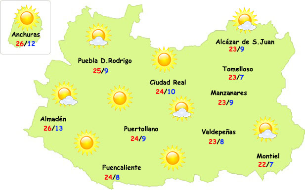 El tiempo en Ciudad Real: más fresco