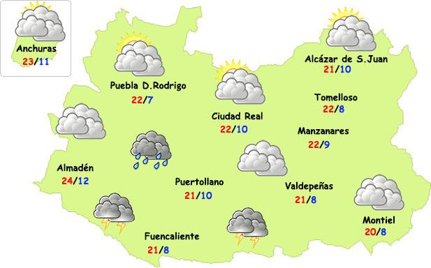 El tiempo en Ciudad Real: más fresco y posible regreso de la lluvia
