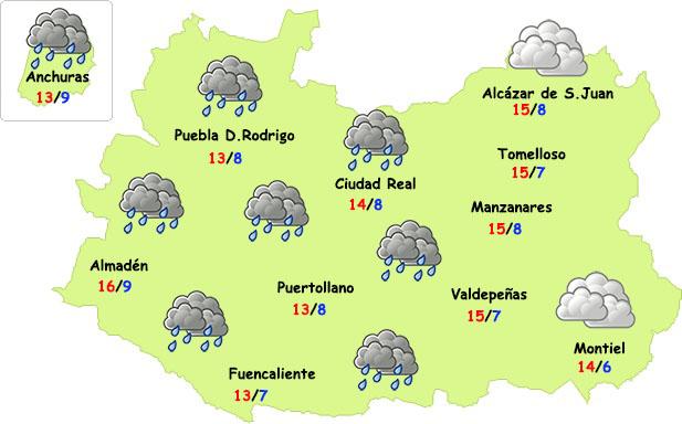 El tiempo en Ciudad Real: algo de lluvia y...¡frío!