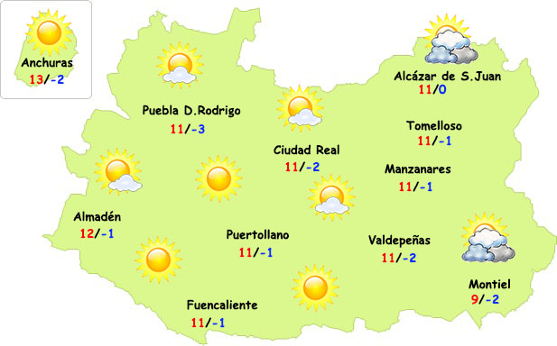 El tiempo en Ciudad Real ESPECIAL: frío y...¿¿nieve??