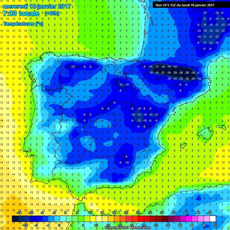 ESPECIAL frío y...¿posible nevada? en Ciudad Real