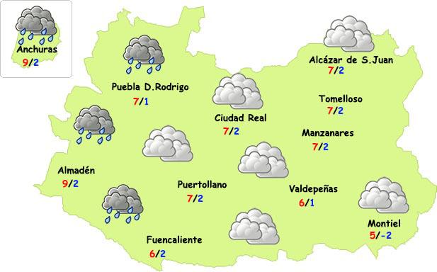 El tiempo en Ciudad Real: camino a las lluvias