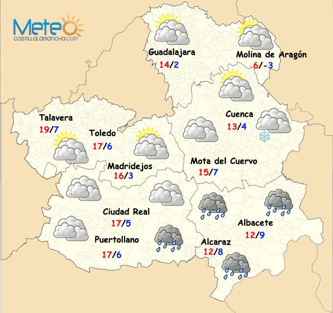Regresa el frío, e incluso la nieve, a Castilla-La Mancha
