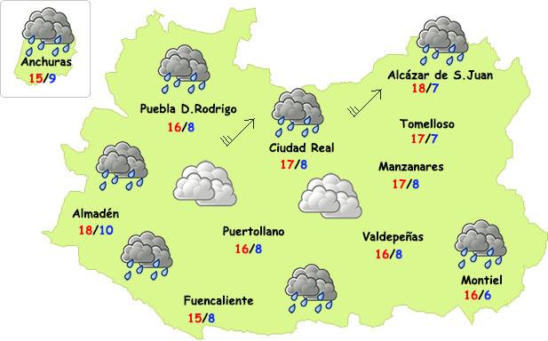 El tiempo en Ciudad Real: finde inestable pero menos frío