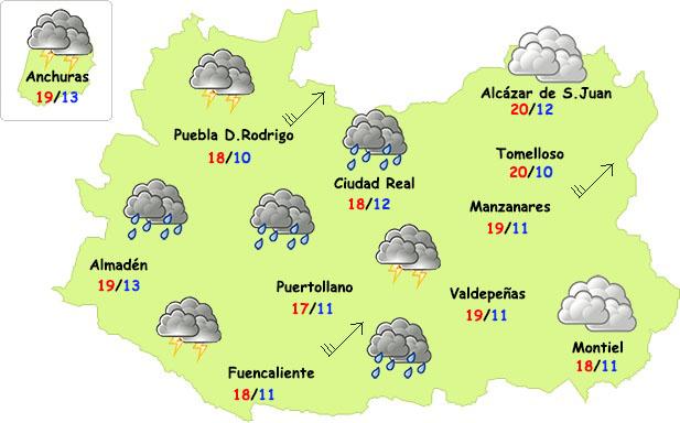 El tiempo en Ciudad Real: regresan las tormentas