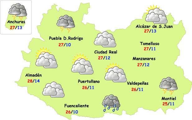 El tiempo en Ciudad Real: afloja el calor