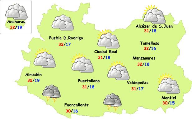 El tiempo en Ciudad Real: calor sin tormentas