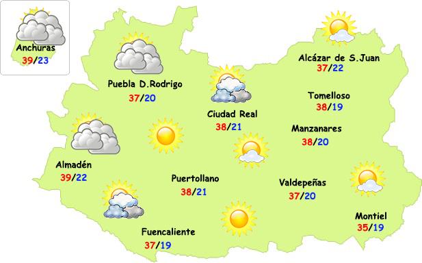 El tiempo en Ciudad Real: calor implacable
