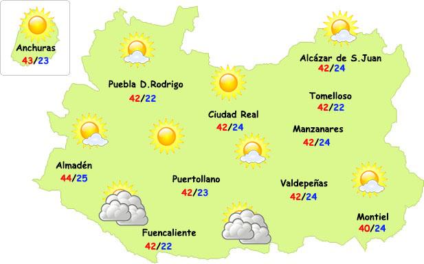 El tiempo en Ciudad Real: ola de calor