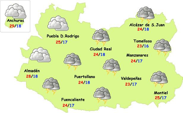Lunes de tormentas en la provincia de Ciudad Real