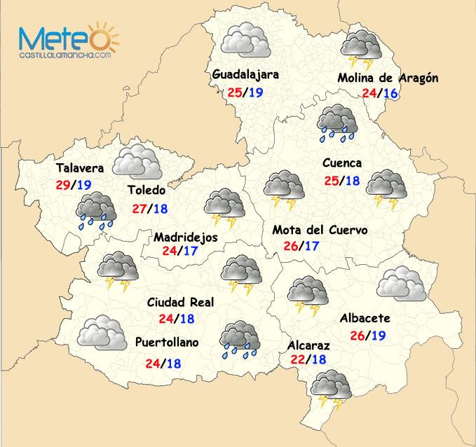 Llega un episodio de fuertes tormentas a Castilla La Mancha