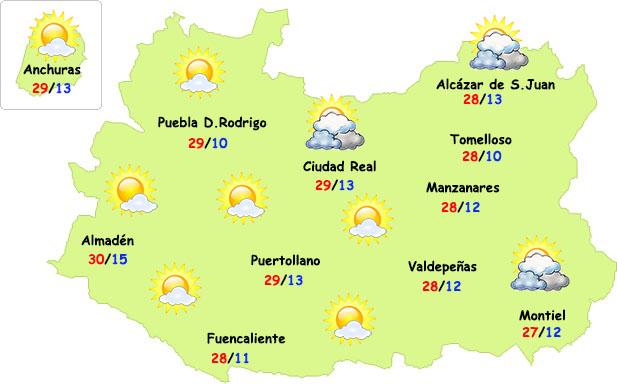 El tiempo en Ciudad Real: más nubes pero sin lluvia