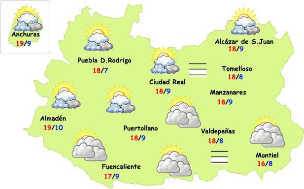 El tiempo en Ciudad Real: remite la lluvia
