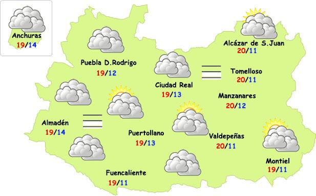 El tiempo en Ciudad Real: nubes y nieblas