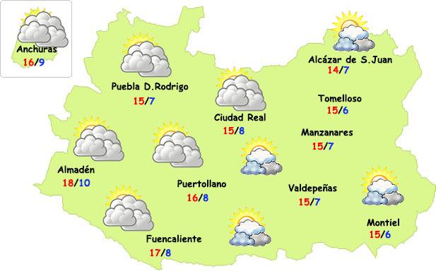 El tiempo en Ciudad Real: finde con nubes pero poco frío