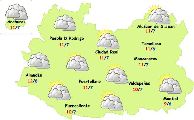 El tiempo en Ciudad Real: más nubes y alguna lluvia