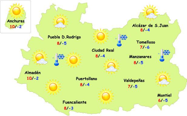 El tiempo en Ciudad Real: finde invernal