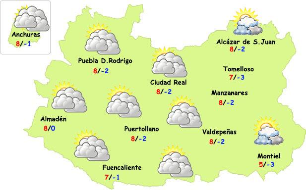 Sábado de transición en Ciudad Real previo a la ¿nieve?