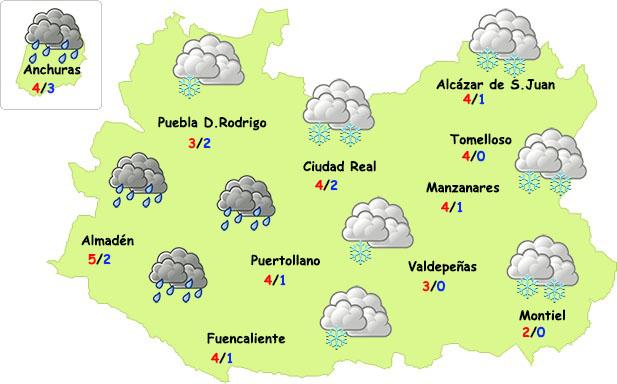 ¿Visitará la nieve la provincia de Ciudad Real?