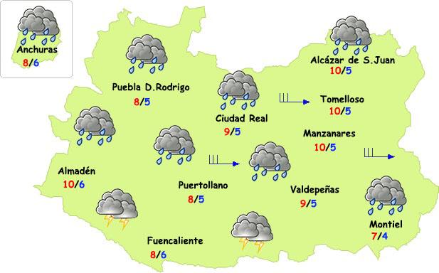 El tiempo en Ciudad Real: seguirá lloviendo