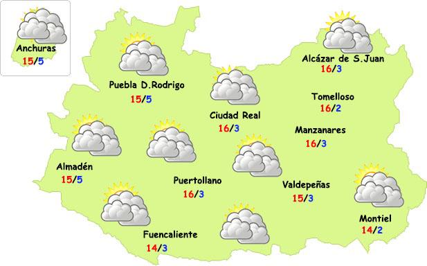 Fin de semana con nubes pero sin lluvias en Ciudad Real