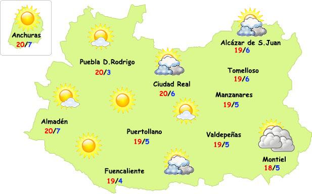 Viernes sin tormentas en Ciudad Real
