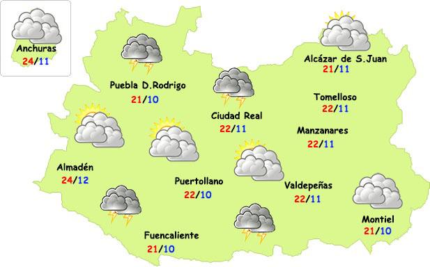 Las tormentas volverán este fin de semana a Ciudad Real