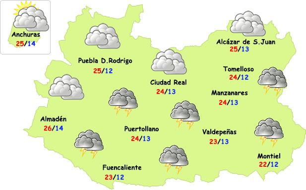 Seguirán las tormentas vespertinas en Ciudad Real