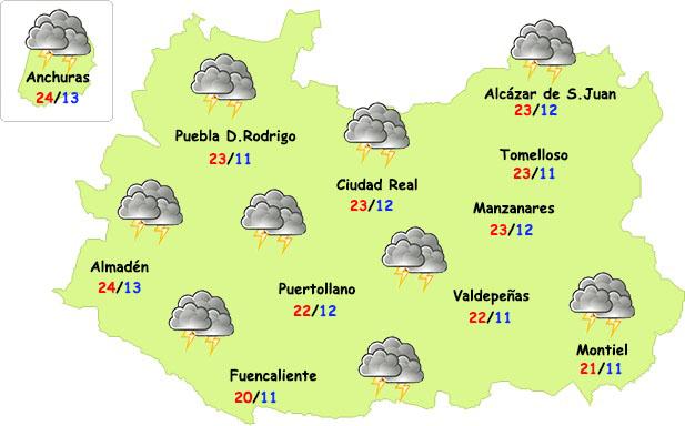 Lunes tormentoso en Ciudad Real