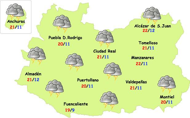 Las tormentas seguirán en Ciudad Real