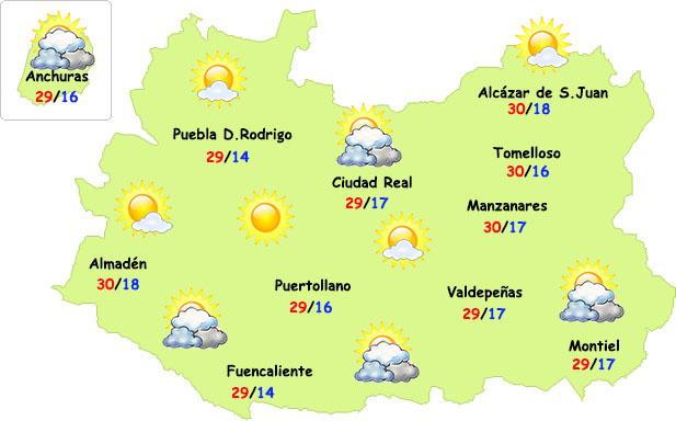 El tiempo en Ciudad Real: menos calor y...¿alguna lluvia?